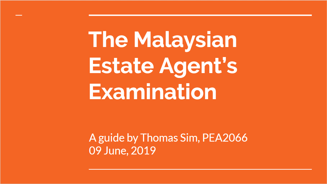 Estate Agent's Examination & Estate Agency Practice