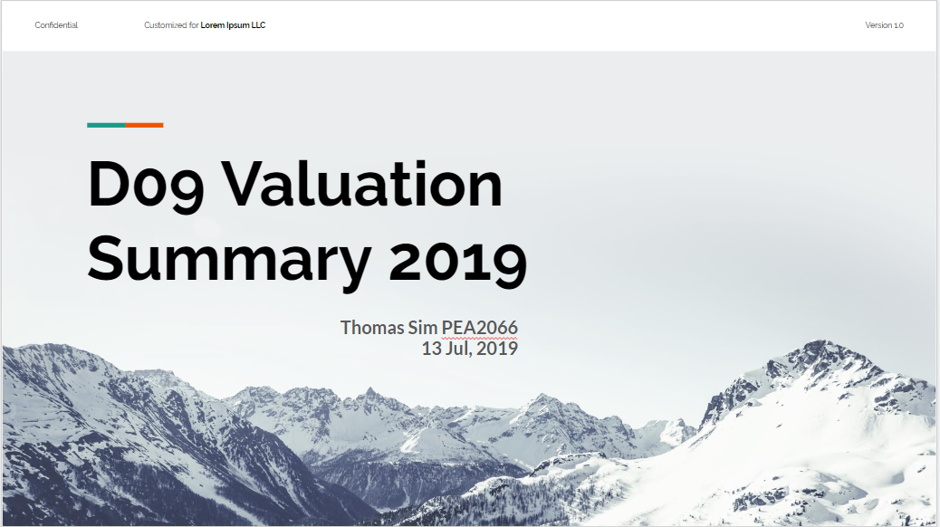 Summary Series – D09 Principles of Valuation